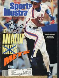 Darryl Strawbery New York Mets Autographed The Amazin' Mets Sports Illustrated Magazine