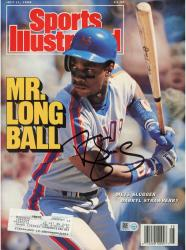Darryl Strawberry Autographed Sports Illustrated Magazine – 7/11/1988