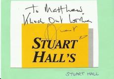 Stuart Hall Signed 3x5 Album Page It's a Knockout