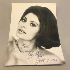 Stunning Sophia Loren 1964 Signed Autographed 8x10 Photo From Paris With JSA COA