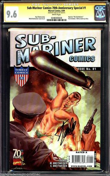 Sub-mariner 70th Anniversary Special #1 Cgc 9.6 White Ss Stan Lee #0248365028