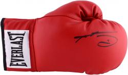 Sugar Ray Leonard Autographed Red Everlast Boxing Glove