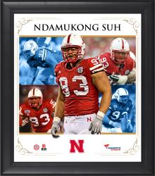 NDAMUKONG SUH FRAMED (NEBRASKA) CORE COMPOSITE - Mounted Memories