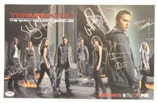 "SUMMER GLAU, LENA HEADEY +6 Signed ""TERMINATOR"" 11x17 Photo PSA/DNA #Y07554"