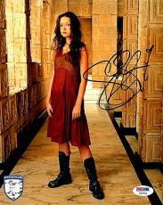 "SUMMER GLAU Signed ""Firefly Serenity"" 8x10 Photo PSA/DNA #Y93261"