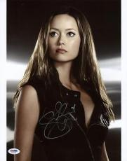 Summer Glau Terminator Signed 11x14 Photo Autographed Psa/dna #x34898