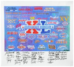 Super Bowl XL 40 MVP's Autographed Giclee