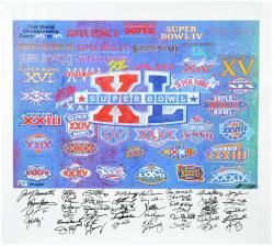 Super Bowl XL 41 MVP's Autographed Giclee