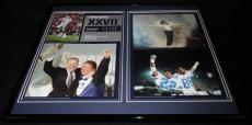 Super Bowl XXVII Framed 16x20 Photo Display Cowboys Michael Jackson Jerry Jones