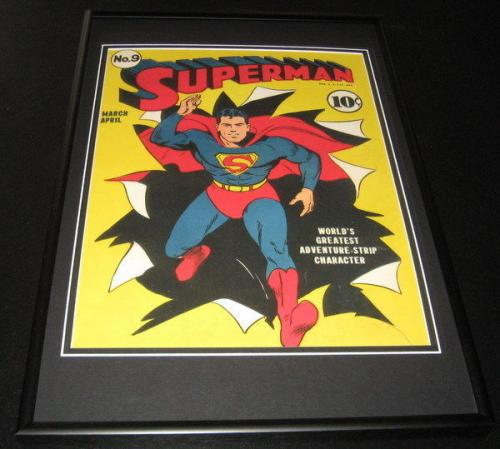 Superman #9 Framed 10x14 Cover Poster Photo DC Comics