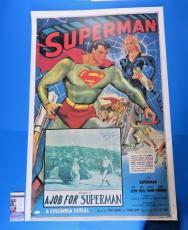 SUPERMAN CHAPTER 5 ~ KIRK ALYN SIGNED 28x41 POSTER ~ RARE AUTOGRAPH ~ JSA L69233
