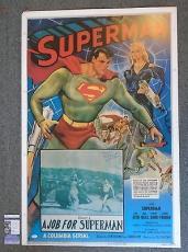 SUPERMAN CHAPTER FIVE - KIRK ALYN SIGNED 28x41 POSTER, JSA/COA - AUTOGRAPH