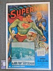SUPERMAN CHAPTER FIVE ~ KIRK ALYN SIGNED 28x41 POSTER ~ RARE AUTOGRAPH - JSA COA