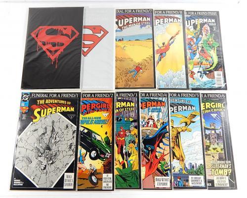 Superman Funeral For Friend Comic Run ^ #1-8 Epilogue + Black & White Bag Set