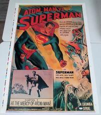 SUPERMAN Kirk Alyn Signed 28x41 Poster Atom Man Vs. Superman JSA COA