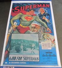 SUPERMAN Kirk Alyn Signed 28x41 Poster Superman Chapter 5 JSA COA Very RARE!
