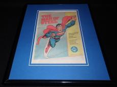 Superman Man of Steel 1986 DC 11x14 Framed ORIGINAL Vintage Advertisement