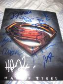 SUPERMAN MAN OF STEEL CAST SIGNED 8x10 POSTER PHOTO HENRY CAVILL IN PERSON COA F