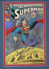 SUPERMAN signed DEAN CAIN & TERRY HATCHER - lois & clark