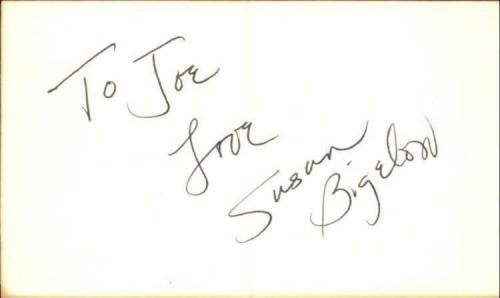 "Susan Bigelow Actress The Edge of Night Signed 3"" x 5"" Index Card"