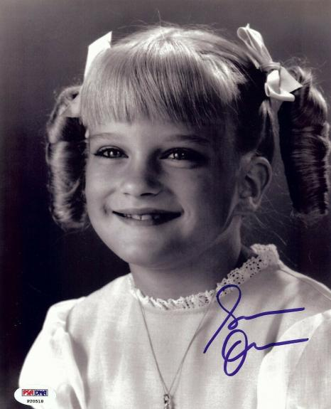 Susan Olsen Signed Autographed 8X10 Photo The Brady Bunch Cindy PSA P20518