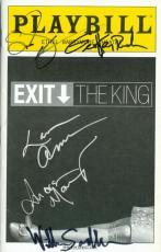 Susan Sarandon Geoffrey Rush William Sadler Lauren Ambrose Andrea Martin autographed Broadway Playbill Exit The King