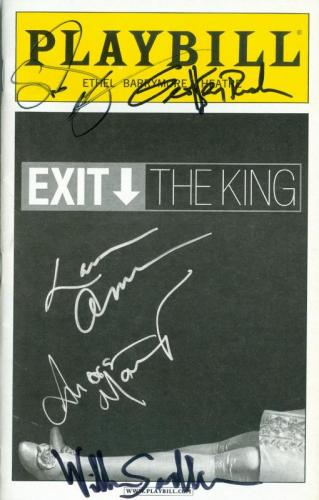 Susan Sarandon Geoffrey Rush William Sadler Lauren Ambrose Andrea Martin autographed Broadway Playbill Exit The King