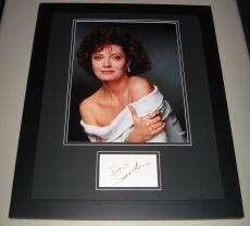 Susan Sarandon SEXY Signed Framed 16x20 Photo Display JSA Bull Durham