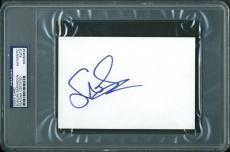 SUSAn Sarandon Signed 4X6 Index Card Autographed PSA/DNA Slabbed