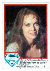 Susannah York autographed card 1978 Topps Superman #9