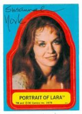 Susannah York autographed card 1978 Topps Superman Sticker