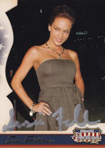 Susie Feldman Signed 2008 Donruss Americana Card 181 Playboy Magazine Model Auto