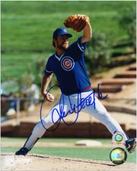 """Rick Sutcliffe Chicago Cubs Autographed 8"""" x 10"""" Pitching Photograph"""