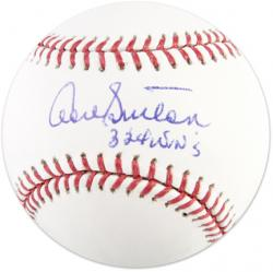 Don Sutton Autographed Baseball with 324 Wins Inscription