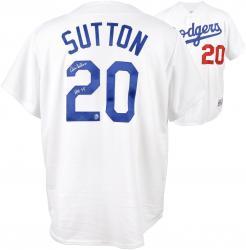 Don Sutton Los Angeles Dodgers Autographed White Jersey with HOF 98 Inscription