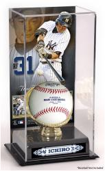 Ichiro Suzuki New York Yankees Gold Glove Baseball Display Case - Mounted Memories