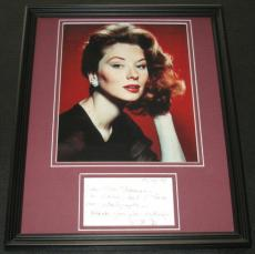Suzy Parker Signed Framed 11x14 Note & Photo Display Dark Shadows