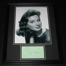 Suzy Parker Signed Framed 11x14 Photo Display Dark Shadows