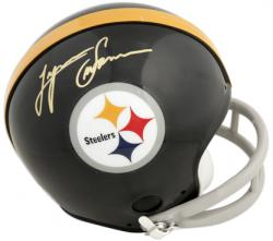 Lynn Swann Pittsburgh Steelers Autographed Throwback Riddell Mini Helmet - Mounted Memories
