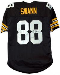Lynn Swann Pittsburgh Steelers Autographed Black Jersey - Mounted Memories