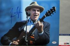 SWEET BABY JAMES!!! James Taylor LIVE Signed 11x14 Photo #3 PSA/DNA