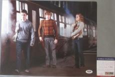 SWEET!!! Daniel Radcliffe Signed HARRY POTTER Cast 11x14 Photo PSA/DNA