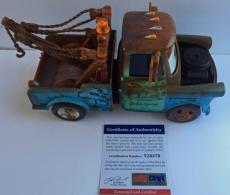 SWEET! Larry The Cable Guy Signed CARS MATER 1:24 Diecast 9in Truck PSA/DNA Pic