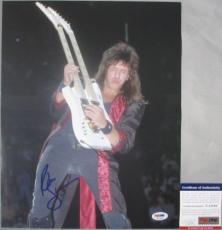 SWEET LIVE SHOT!!! Richie Sambora Signed BON JOVI 11x14 Photo #2 PSA/DNA Cool
