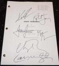 Sweet November Autographed Full Script by Keanu Reeves, Charlize Theron, Robert Joy, Greg Germann, Lauren Graham, and Jason Isaacs