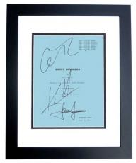 Sweet November Autographed Script by Keanu Reeves, Jason Isaacs, and Charlize Theron BLACK CUSTOM FRAME