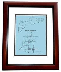 Sweet November Autographed Script by Keanu Reeves, Jason Isaacs, and Charlize Theron MAHOGANY CUSTOM FRAME