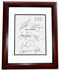 Sweet November Autographed Script Cover by Keanu Reeves, Charlize Theron, Robert Joy, Greg Germann, Lauren Graham, and Jason Isaacs MAHOGANY CUSTOM FRAME