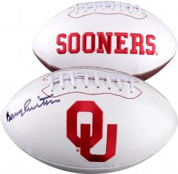 Barry Switzer Autographed Oklahoma Sooners Football