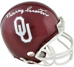 Barry Switzer Oklahoma Sooners Autographed Mini Helmet - Mounted Memories